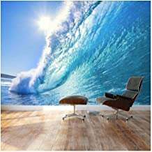 wall26 - Clear Ocean Wave and Dream Surfing Destination - Landscape - Wall Mural, Removable Sticker, Home Decor - 66x96 inches