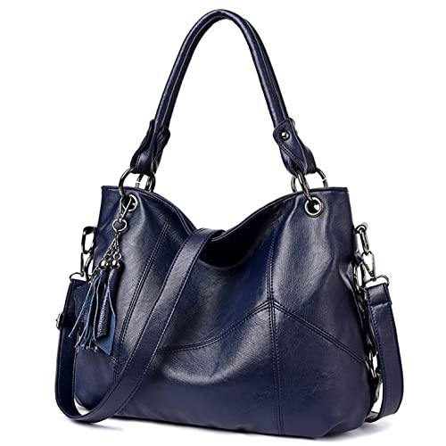 0a2e62bfe85 Lustear Soft Leather Handbag Hobo Style Purse Tote Shoulder Bag with Tassel  For Women