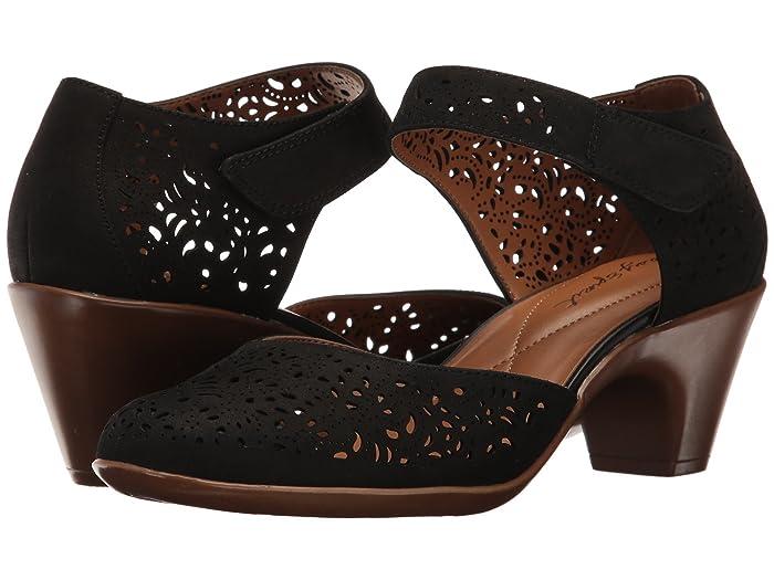 60s Shoes, Boots Easy Spirit Cindie Black Nubuck Womens Shoes $79.00 AT vintagedancer.com