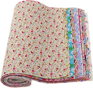 kesoto Printed Flowers Fat Quarters Fabric Bundles, Quilting Fabric for Sewing Crafting, 30 Pieces