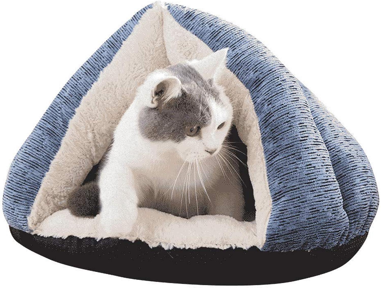 Cat Litter Cat Sleeping Bag Four Seasons Universal Cat House Cat House Small Dog Net Red Triangle Pet Supplies Winter Warm WHLONG