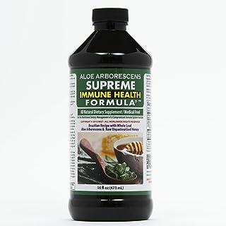 Aloe Arborescens - Supreme Immune Health Formula - for Healthy Immune System Function - Aloe Juice + Honey (16 Ounces)