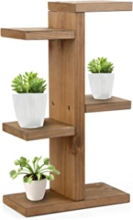 YUIOP 3 Tier Wooden Plant Stand Wood Plant Stand Holder Flower Display Stand Flower Pot Rack Bonsai Display Bench Patio Shelf Porch Dining Room Living Room Bathroom Indoor Outdoor