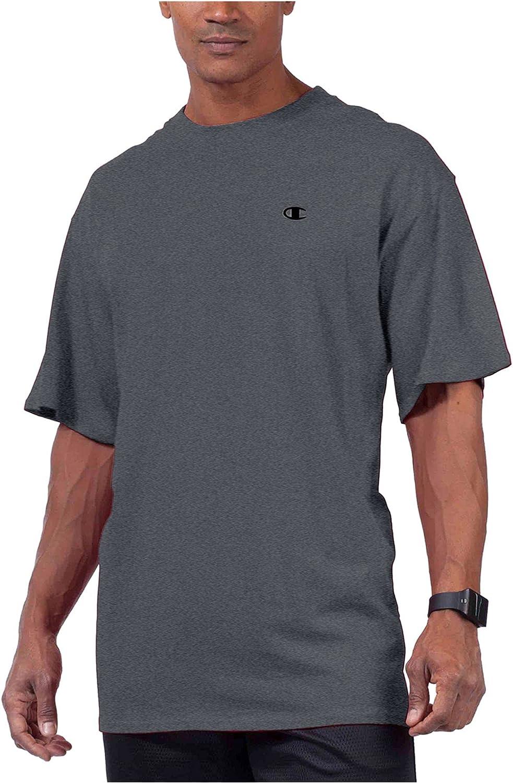 Champion Mens Gray Logo Graphic Short Sleeve Casual Shirt XL Tall