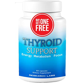 Research Labs Thyroid Support + Iodine - Energy, Metabolism, Focus (60 Capsules) - 2 Pack