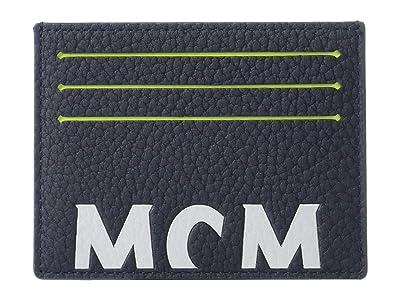 MCM New Big Logo Card Case Mini (Navy) Coin Purse