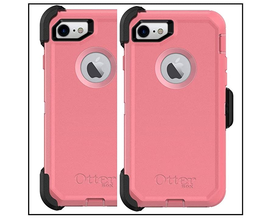 OtterBox Defender Series Case for iPhone 8 and iPhone 7 - Retail Packaging - Rosmarine Way (Rosmarine/Pipeline Pink)