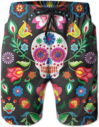 Mushrooms Psychedelic Mens Classic Summer Boardshorts with Pockets