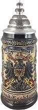 Zöller & Born German Beer Stein tenn Tysk eagle sten 0,5 liter tankard, ölmugg ZO 1403/906