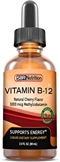 Vitamin B12 Sublingual Liquid Drops - Methylcobalamin, VIT B 12 Supports Energy, Max Absorption,...
