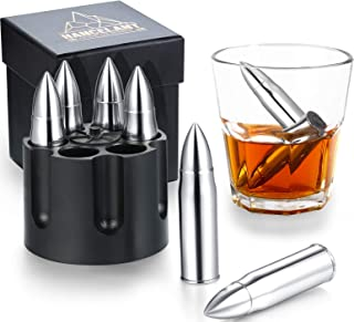 Metal Whiskey Stones 6-Pack Stainless Steel Silver Whiskey Rocks Gifts for Men Dad,Unique Birthday Gifts Ideas for Him Boy...