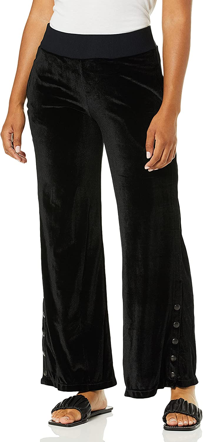 Maaji Women's Voyage Velour Wide Leg Pant Industry No. 1 Details with Snap New products world's highest quality popular