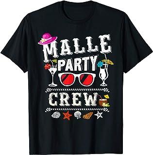 Malle Party Crew T Shirt Buntes Mallorca Urlaub T-Shirt