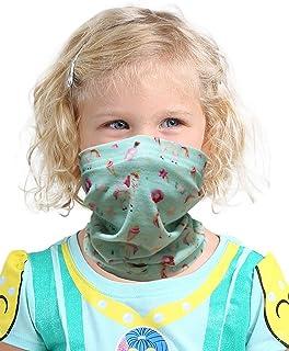 Kids Novelty Bandanas Cute Neck Gaiters UV Sun Protection Face Mask for Boys Girls (one size, Light green Unicorn)