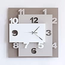 ARTI E MESTIERI OR2869C62 Orologio da Parete, Metallo, Beige/Nocciola/Bianco, 40 x 8 x 40 cm