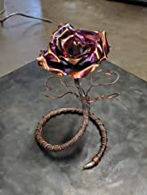 5 Bright Copper 5 Flamed Forever Roses Valentine/'s Mother/'s Day Anniversary Gift
