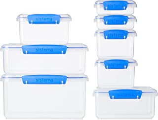 Sistema KLIP IT Collection Food Storage Containers, Assorted Shapes and Colors, 16-Piece Set