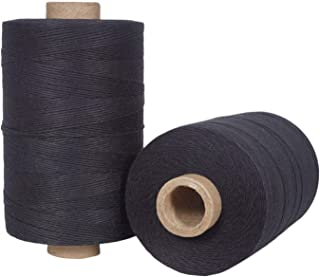 Warp Thread for Weaving Loom - 1 Spool of 850 Yards 8/4 Warp Yarn 100% Cotton - Black Color - Perfect Warping Thread for Weaving Tapestry Carpet Rug Blankets and Other Patterns
