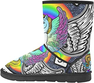 Artsadd Fashion Women's Shoes Music Notes High Top Womens Snow Boots