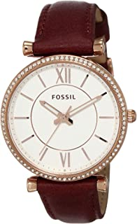 Fossil Womens Quartz Watch, Analog Display and Leather Strap ES4428