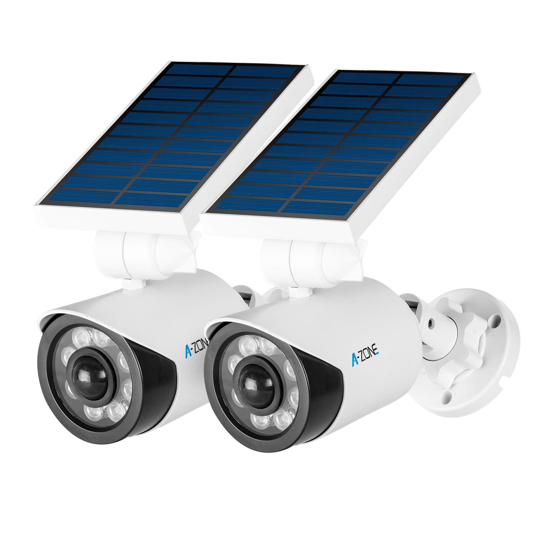 2 solar security cameras