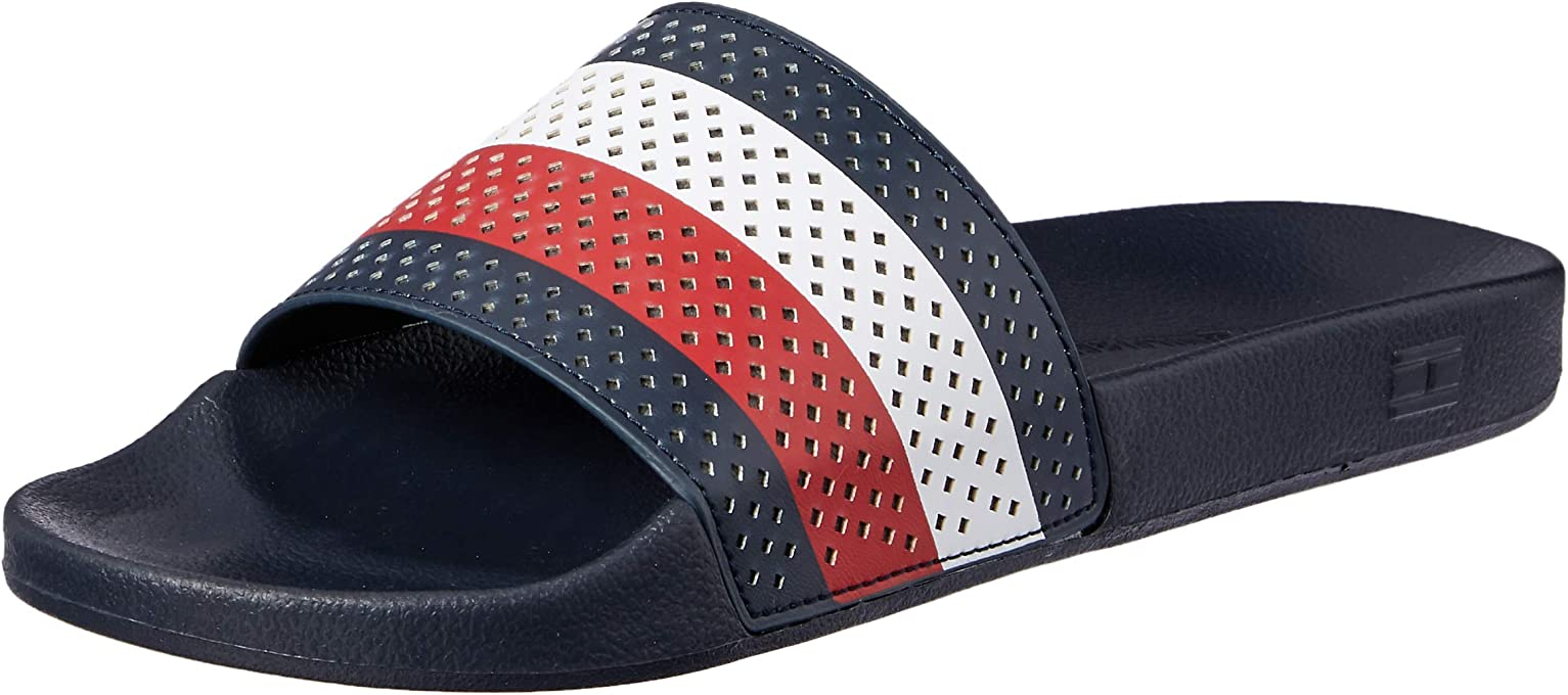 Tommy Hilfiger Hilfiger Flag Perforated Upper Pool Slide