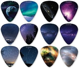 Creanoso Galaxy Guitar Picks (12-Pack) - Premium Music Gifts & Guitar Accessories for Boys Son Men Him Husband Dad Boyfriend Musician Gift – Medium Gauge Celluloid