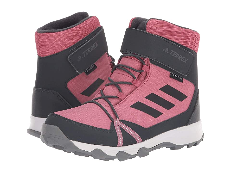 adidas Outdoor Kids Terrex Snow CF CP CW (Little Kid/Big Kid) (Trace Maroon/Carbon/Real Magenta) Girl