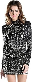 Women's Long Sleeve High Neck Bodycon Tight Casual Mini Dress
