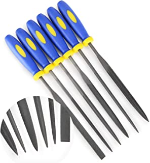 MINI Needle File Set (Carbon Steel 6 Piece-Set) Hardened Alloy Strength Steel – Set..