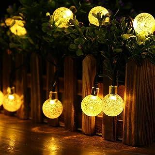 String Lights Solar 8 Model 20 ft 30LED Globe Outdoor Lighting for IndoorChristmas Home Patio Lawn Garden Wedding Party De...