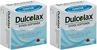 Dulcolax Stool Softener Liquid Gels, 100ct - 2 Packs