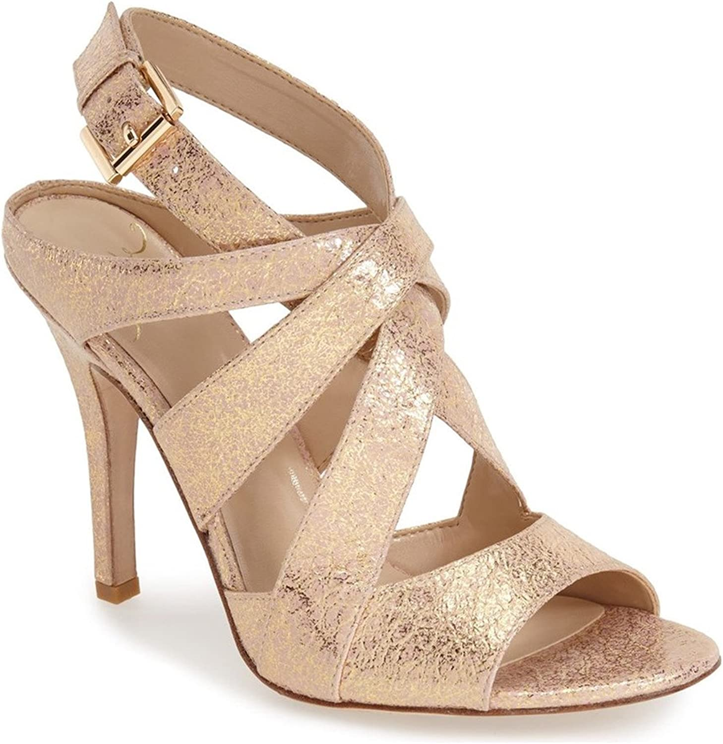 Kay Unger 'Phoebe Collection' Sussex Sandal, gold Pink Multi