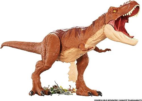 Jurassic World Super Colossal T-Rex Figurine, jouet pour enfant, FMM63