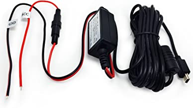 Arpenkin HardWire Kit Mini USB 12V to 5V Magnet Ring Anti-Interferance Power Adapter Cord Cable - Compatible for Rexing V1, A119 A119S A118 A118C A118C2 B40 G1W, G1W-C, G1WH, GT680W(Mini USB)