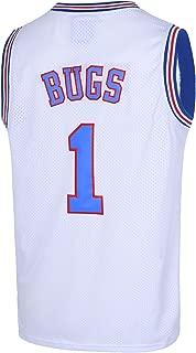 TUEIKGU Bugs 1 Space Men's Movie Jersey Basketball Jersey S-XXL White/Black/Blue