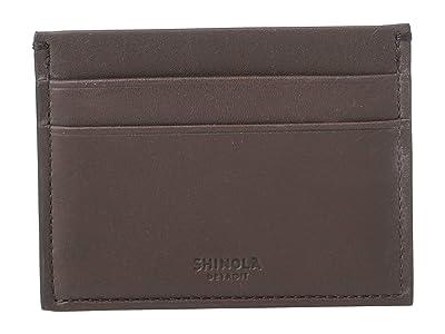 Shinola Detroit Five-Pocket Card Case (Chocolate) Wallet Handbags