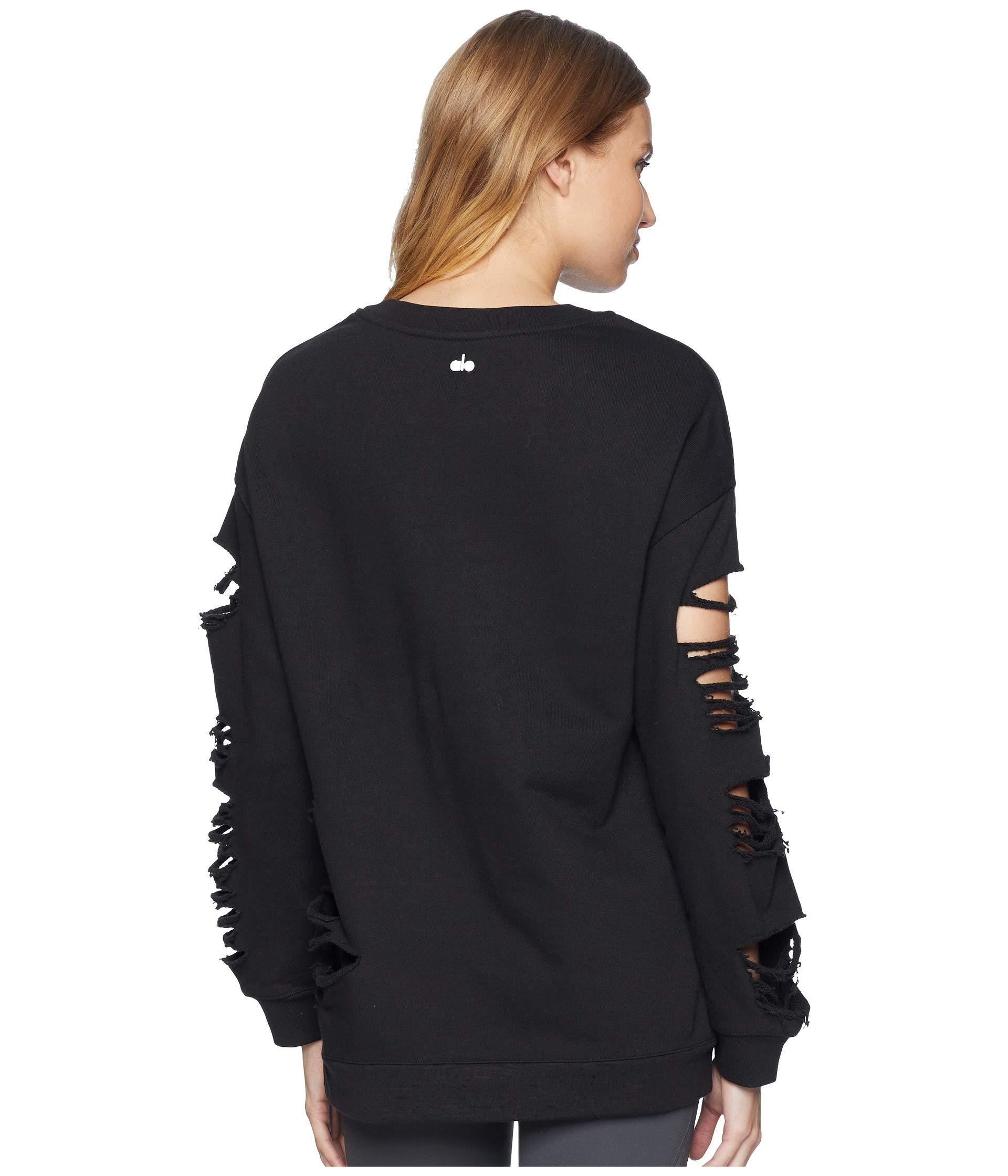 Black Long Fade Alo Pullover Sleeve nv466x