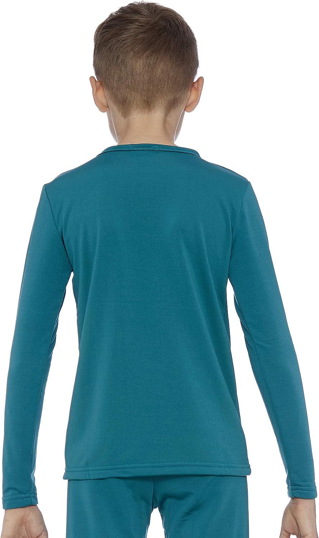 Rocky Boys Fleece Lined Thermal Long Sleeve Top Crewneck Underwear Base Layer T-Shirt