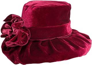 Womens Kentucky Derby Formal Wide Brim Church Dress Wedding Velvet Hat A389