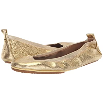 Yosi Samra Samara (Gold Textured Leather) Women