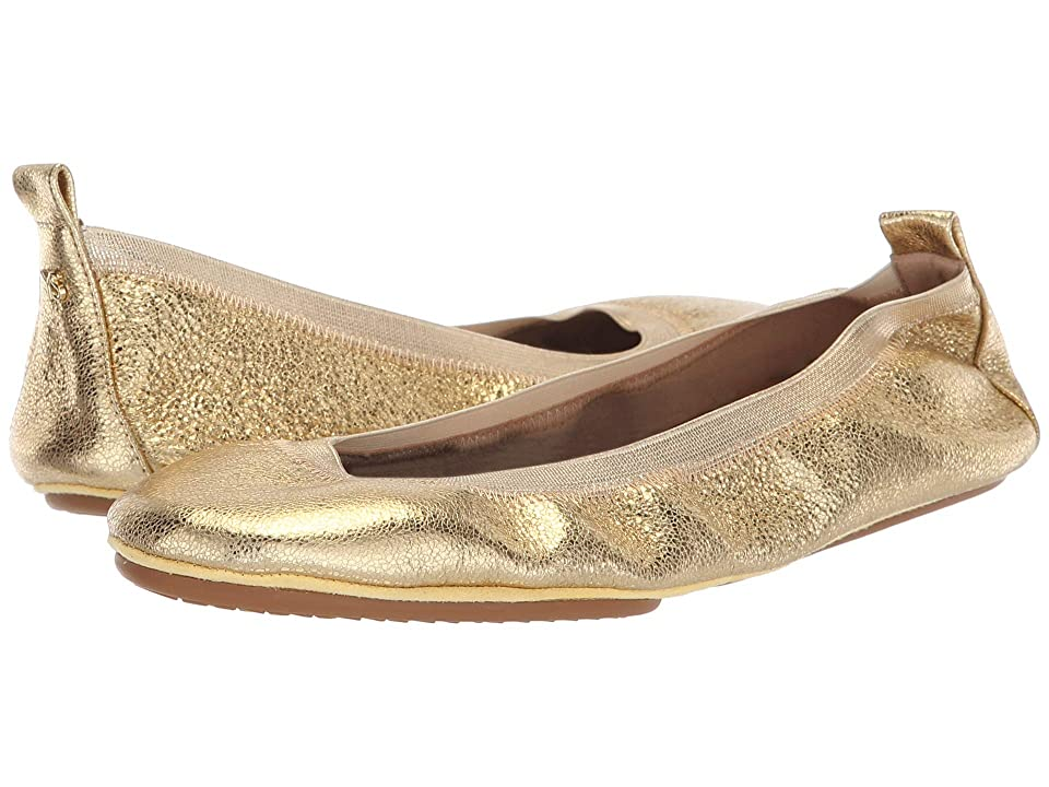 Yosi Samra Samara (Gold Textured Leather) Women