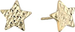 14KT Solid Gold Star Stud Earrings