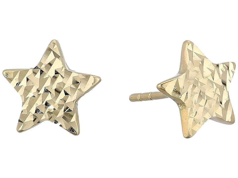 Dee Berkley - Dee Berkley 14KT Solid Gold Star Stud Earrings