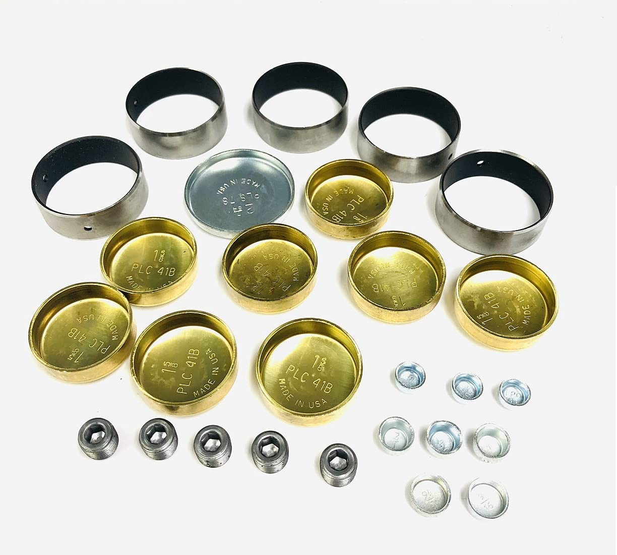 Coated Cam Bearings Financial sales sale Excellence Brass Freeze Plug compatible C with Set sb