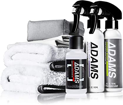 Adam's UV Ceramic Paint Coating Kit - 9H Ceramic Coating 5+ Years Of Protection   Stronger Than Car Wax   Apply After Car Wash, Clay Bar, Car Polisher   Car Detailing Kit Boat RV Motorcycle: image