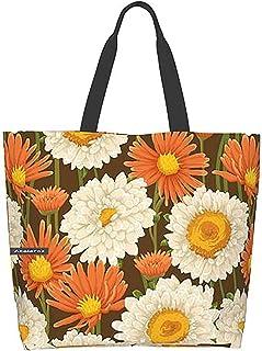 Daisy Fashion One Shoulder Convenience Bag Large Shopping Bag Canvas Bag Fitness Bag Beach Bag Reusable Women Handbag