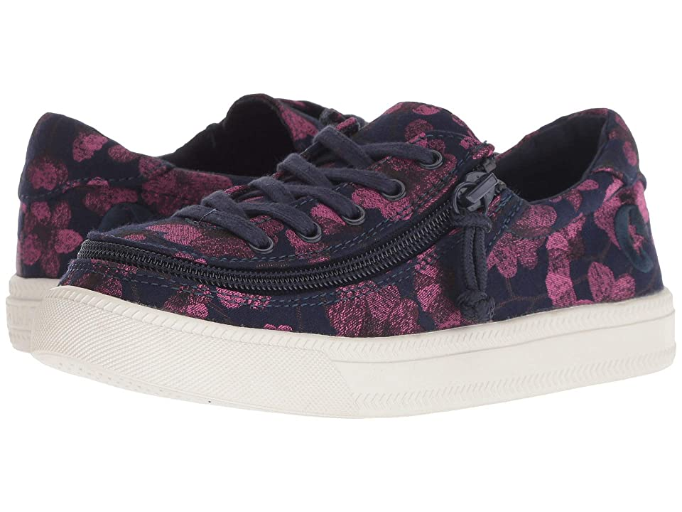 BILLY Footwear Kids Classic Lace Low (Toddler/Little Kid/Big Kid) (Navy/Pink Floral) Girls Shoes