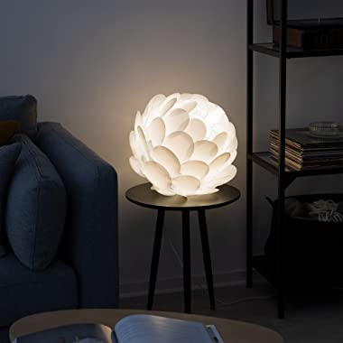 kwmobile Puzzle Pendant Lamp Shade - Cherry Blossom DIY Jigsaw Lampshade - for Hanging Ceiling Light or Floor Lamp - Diameter