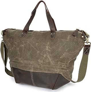 Handbags Messenger Bag Hand Shoulder Bag Oil Wax Canvas with Bag Waterproof Unisex